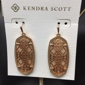 KS Elle Filigree Rose Gold Color earrings
